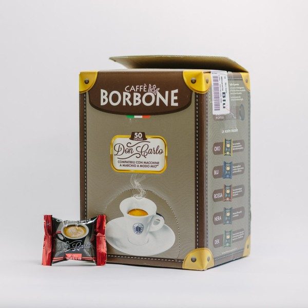 CAPSULA BORBONE DON CARLO RED 50PZ