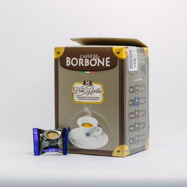 CAPSULA BORBONE DON CARLO BLU 50PZ